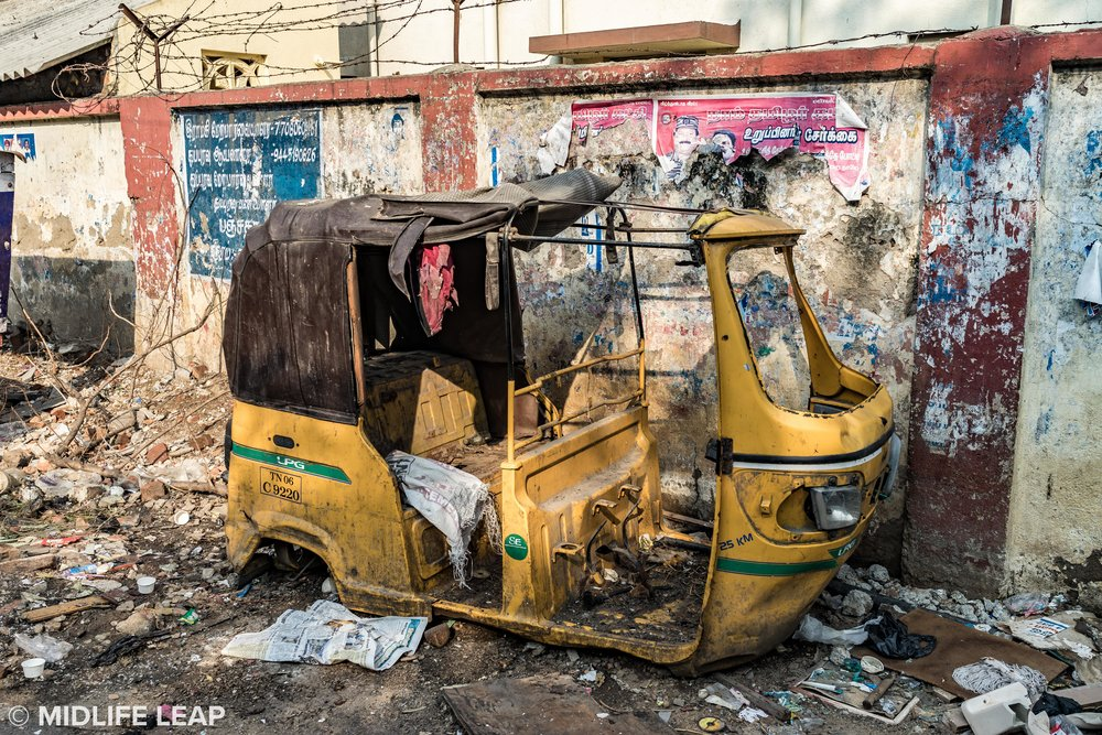 Where rickshaws go to die