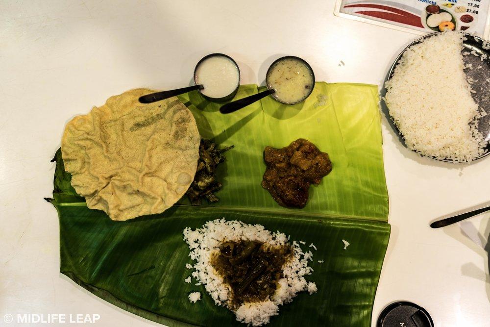 Thali at Hotel Sree Sabarees
