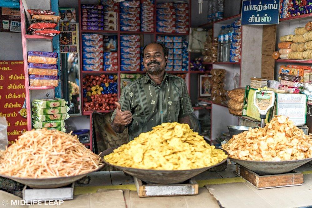 Proud homemade chip vendor