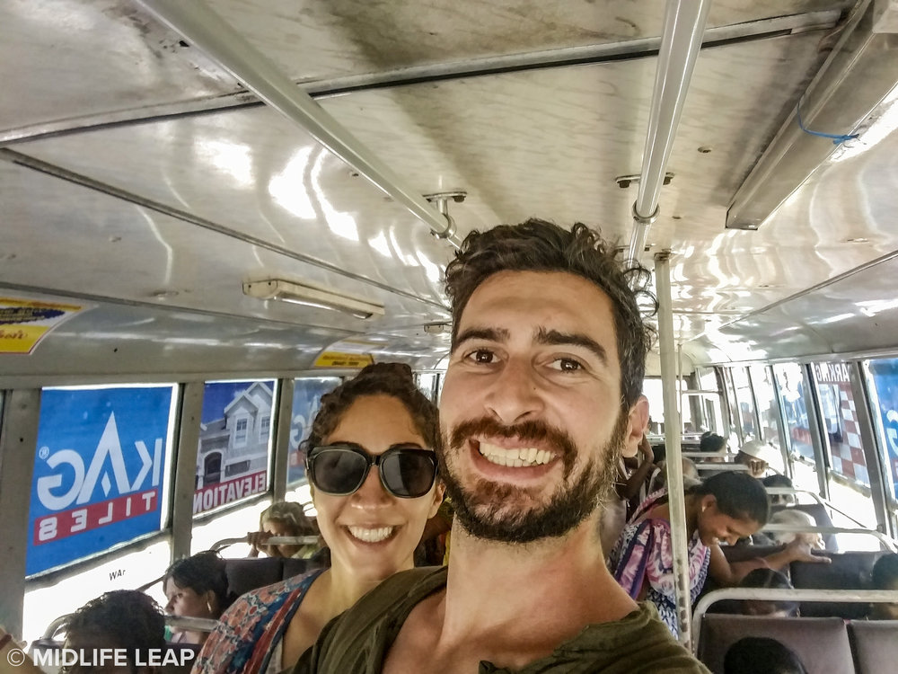 Taking the local bus to Sivananda