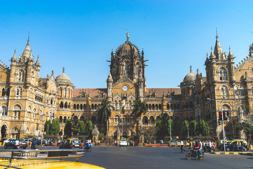 Chhatrapati Shivaji Terminus Railway Station in Mumbai