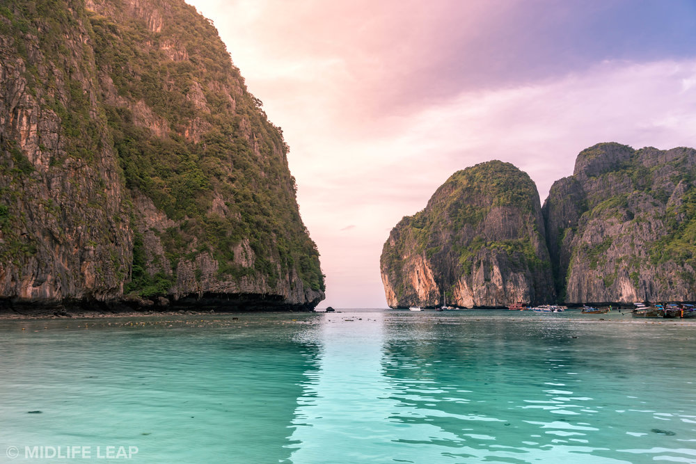 Maya Bay around sunset