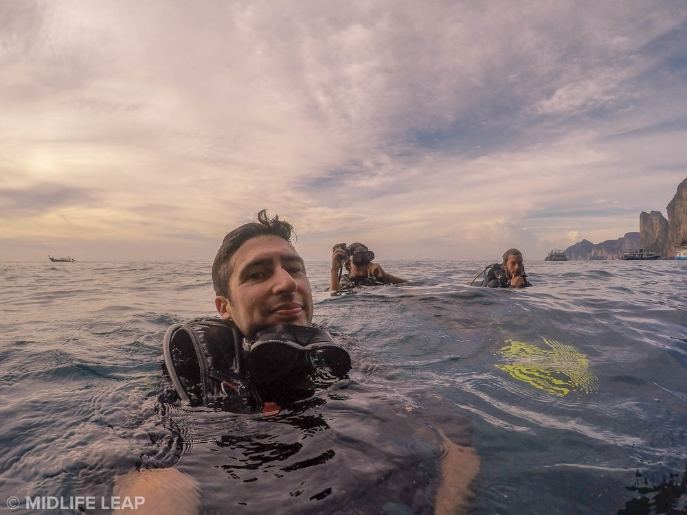 Apres Dive (I find getting in and surfacing some of the scariest parts of diving)