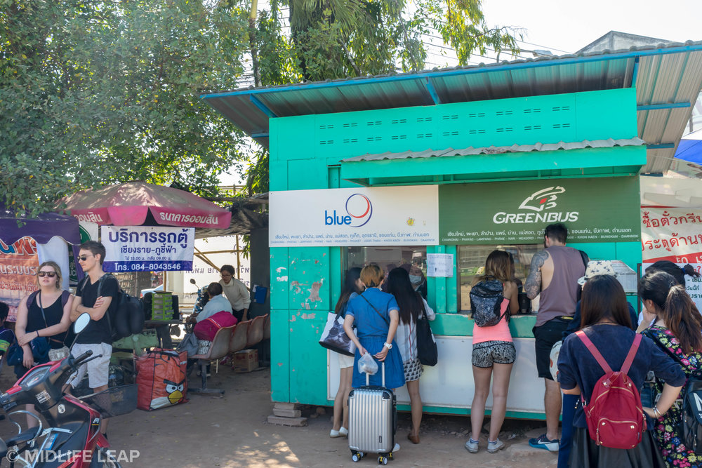 The bus station in Chiang Rai