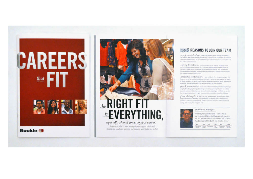 Buckle | Careers that Fit Recruiting Brochure | tashvock.com