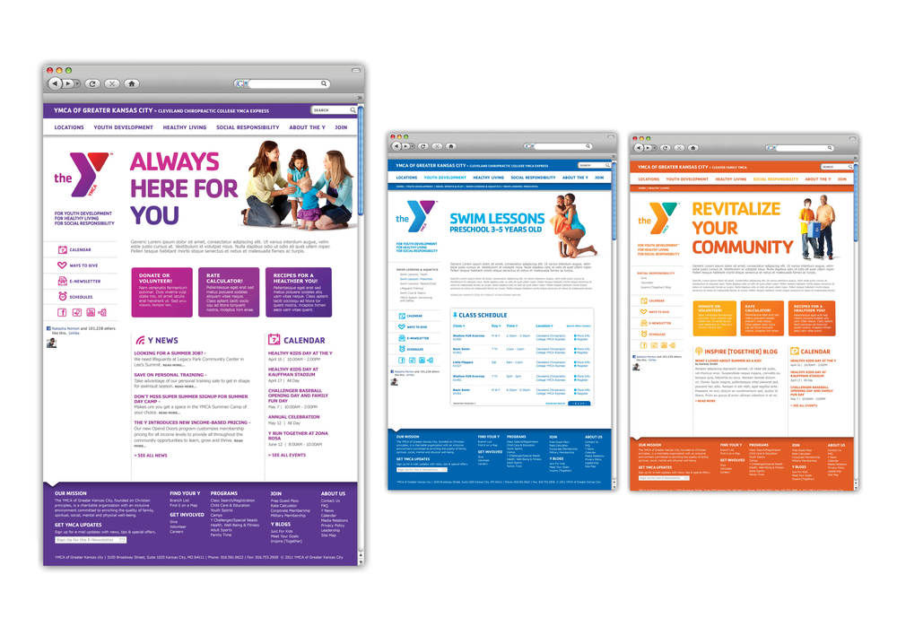 YMCA of Greater Kansas City Website | tashvock.com