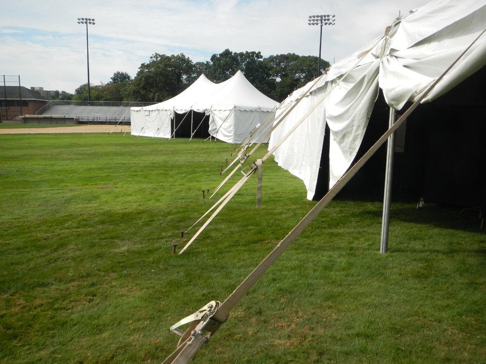 The empty tents on Adams Field