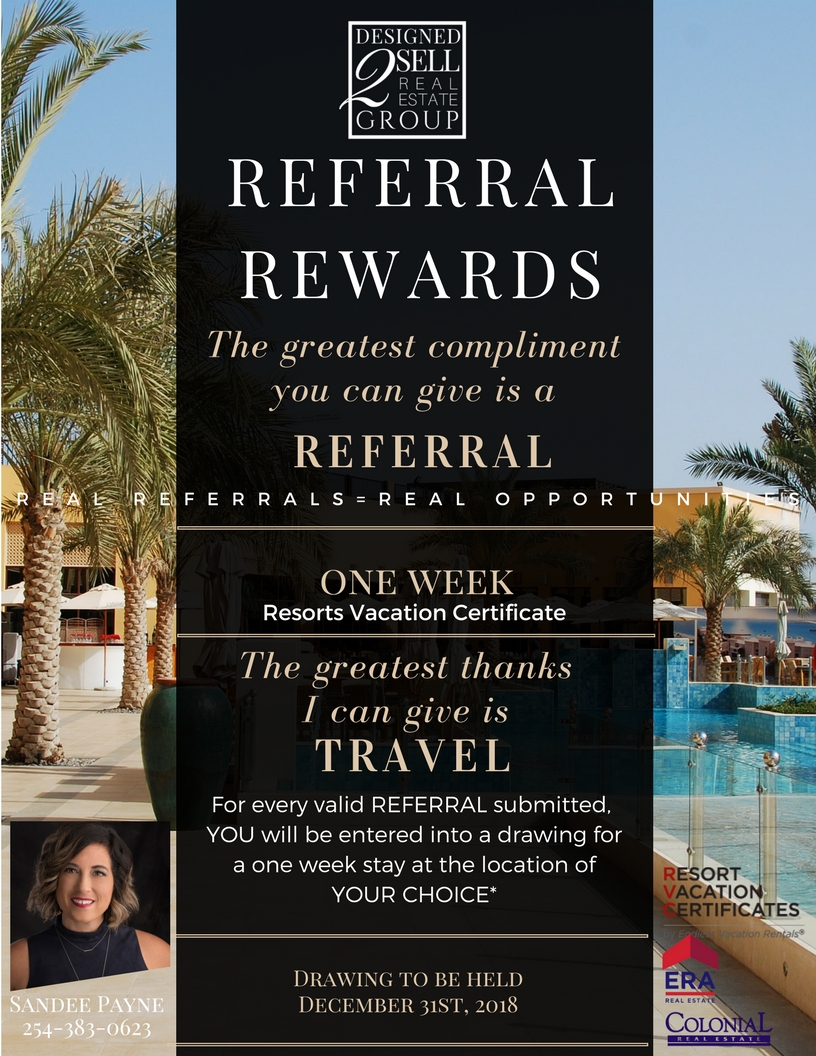 Referral Rewards Designed 2 Sell Real Estate Group