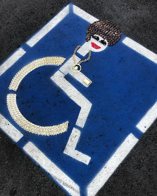 Because in Venice even our parking spots are cool! #button #therapy #buttonart #ephemeral #art #enjoy #while #you #can #have #fun #allthetime #makeart #allday #find #your #inner #artist #design #inspire #create