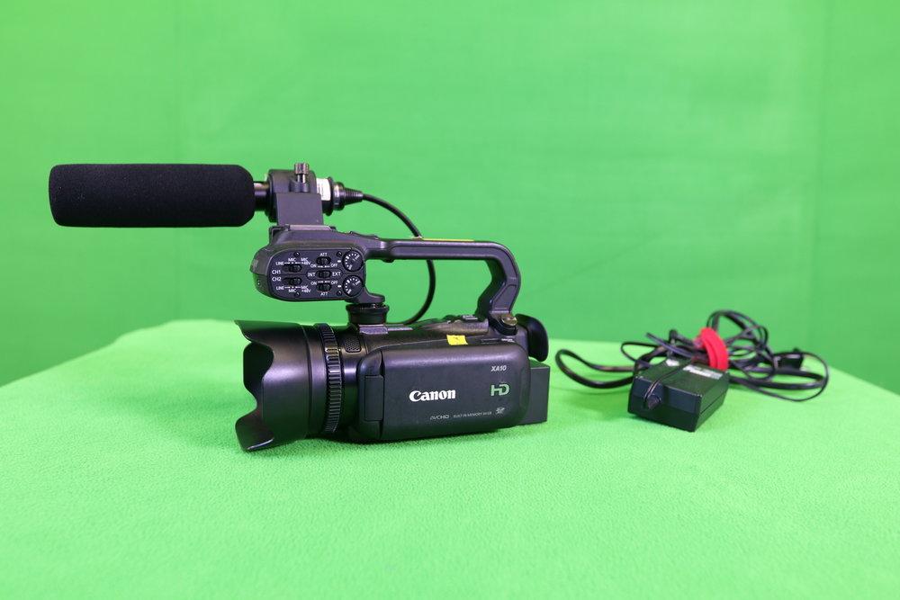 Canon XA-10 w/ RODE Shotgun Mic