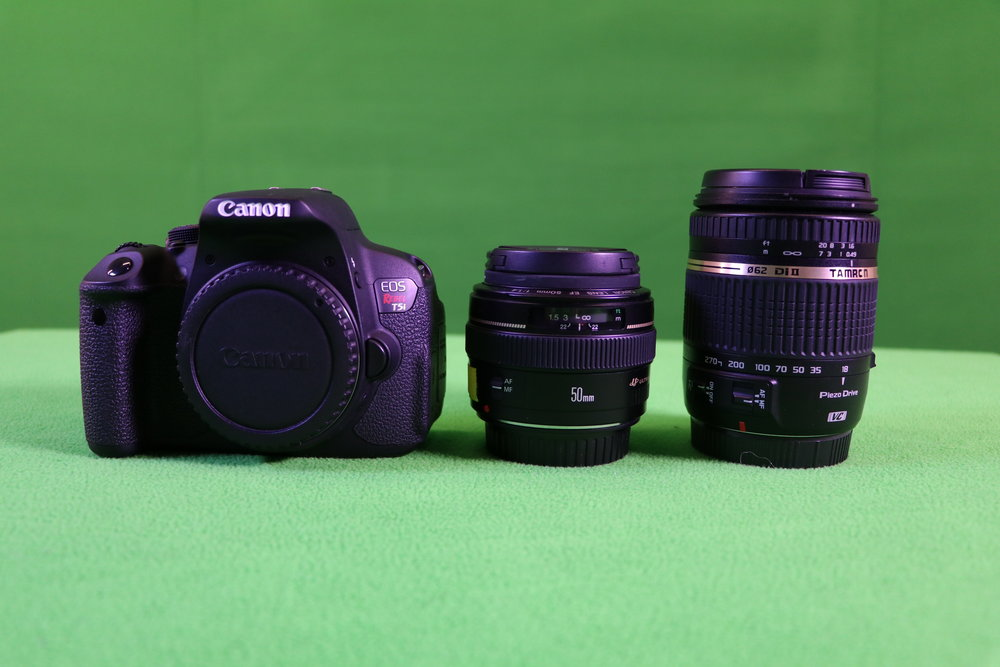 Canon T5i w/ 50mm 1.4 & 18-270mm