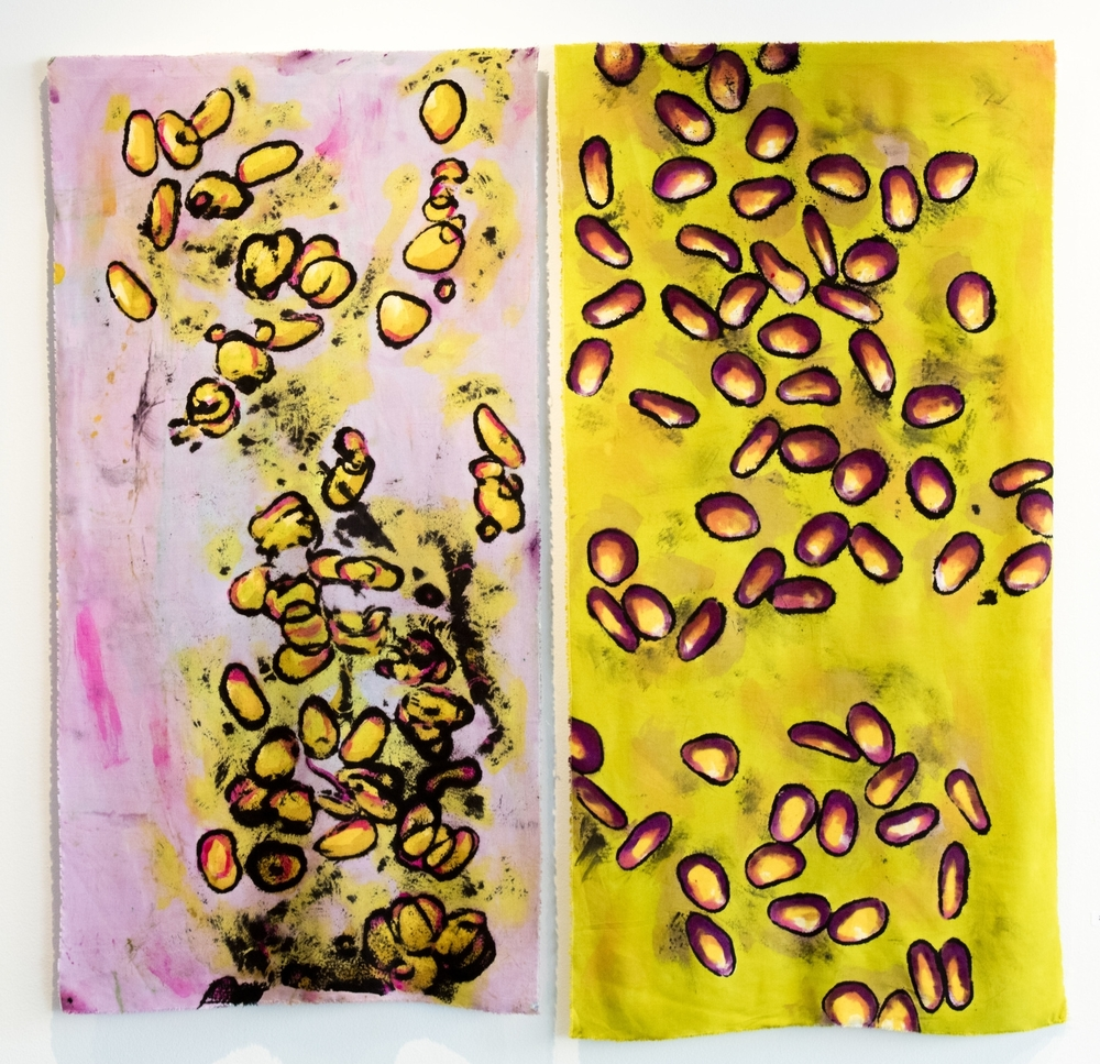"Falling Leaves Diptych - 36"" x 36"""