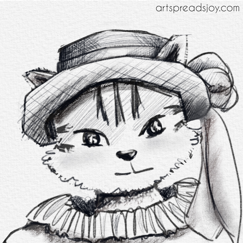 Cat in a Hat Sketch