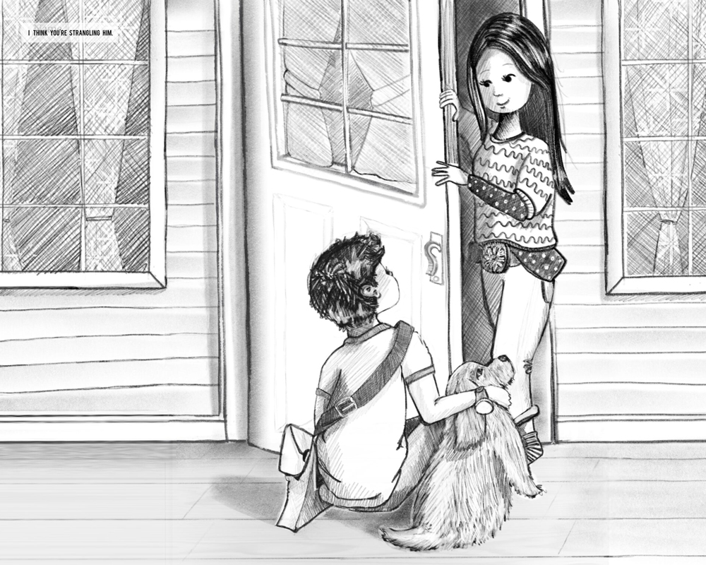 Middle Grade Black and White Illustration