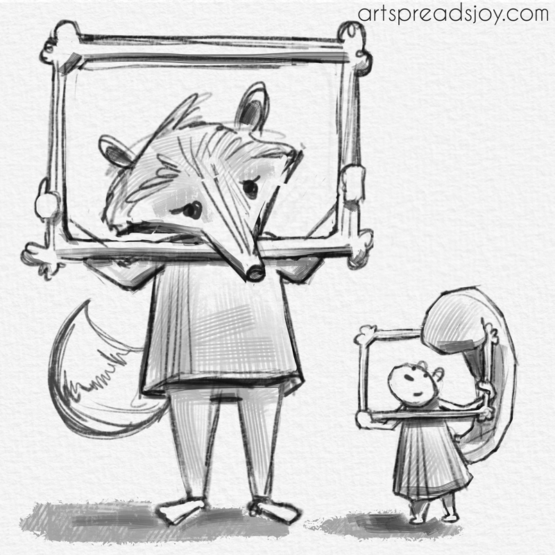 Fox and a Frame by Katie Ericson