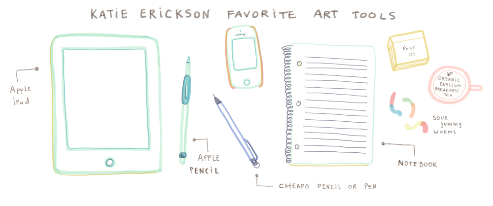 by Katie Erickson Favorite Art Tools