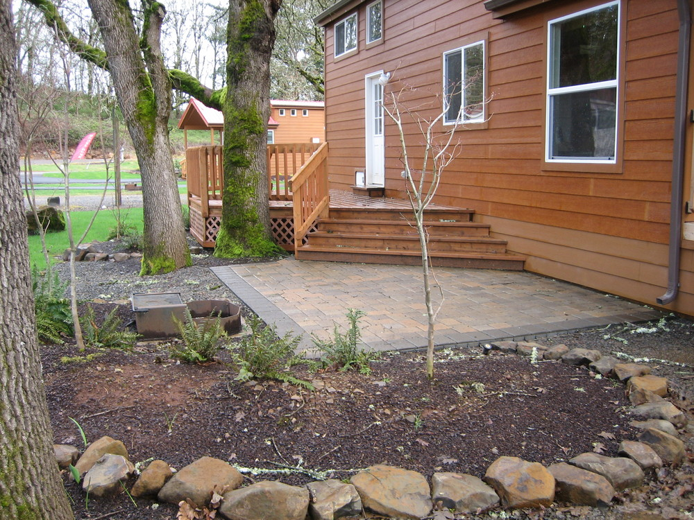 Added paver patio and deck.