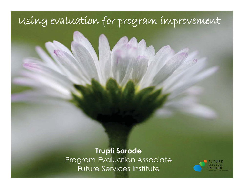 Evaluation for Program Improvement PowerPoint presentation