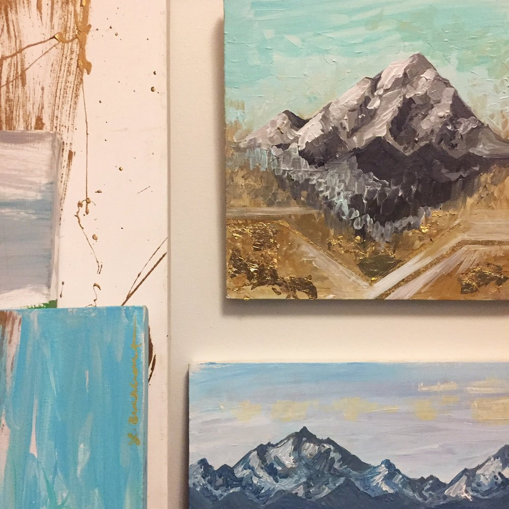Paintings in studio.JPG