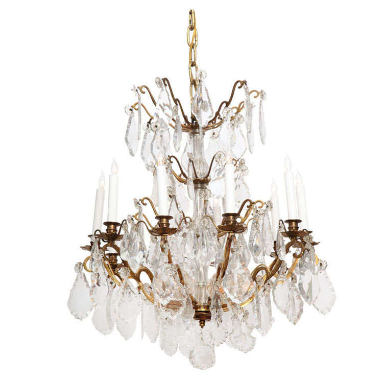 French 1940s baccarat chandelier 145 antiques french 1940s baccarat chandelier aloadofball Image collections