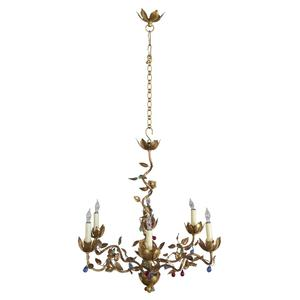 Chandeliers pendants 145 antiques whimsical spanish gilt chandelier mozeypictures Images