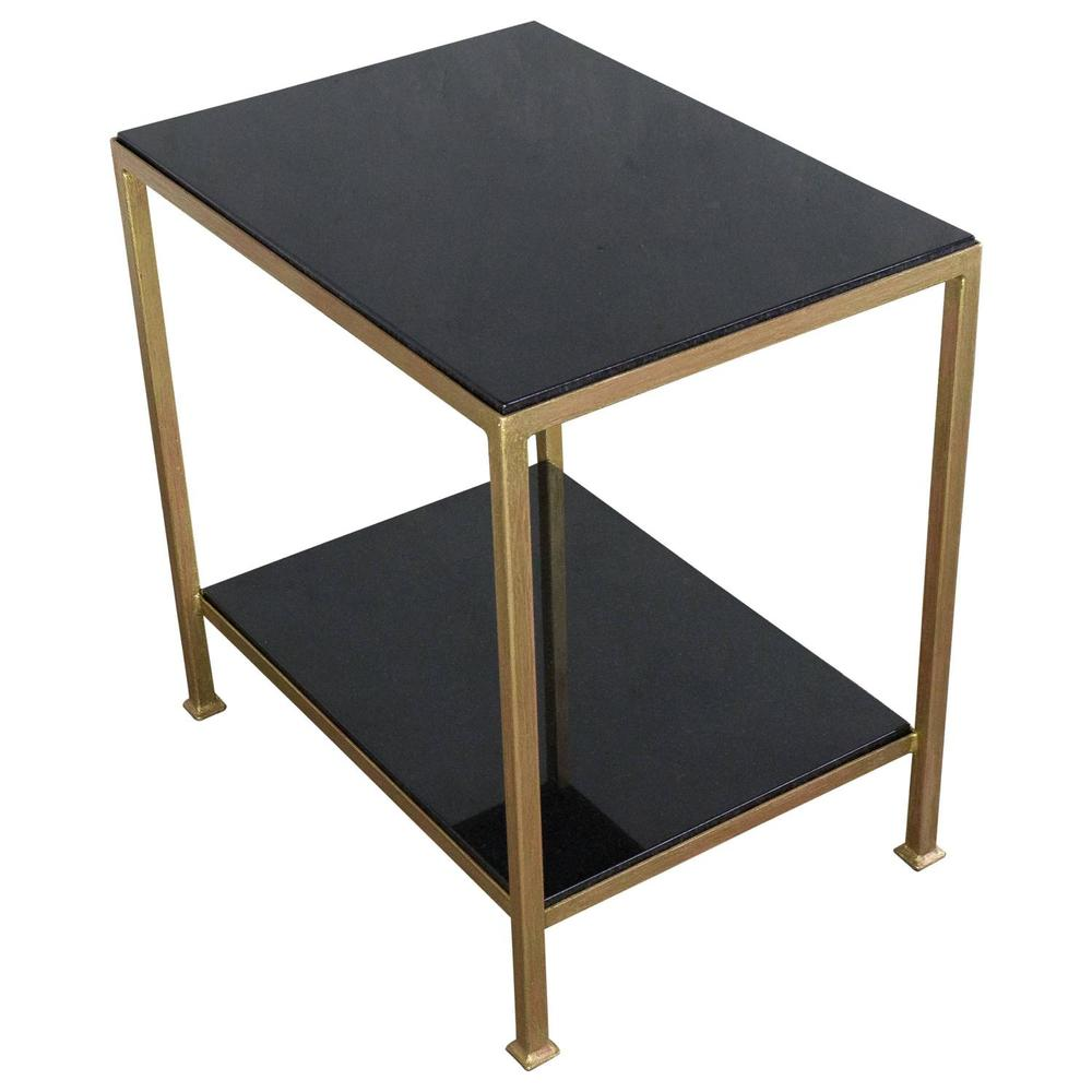 Captivating Marcelo End Table With Polished Granite