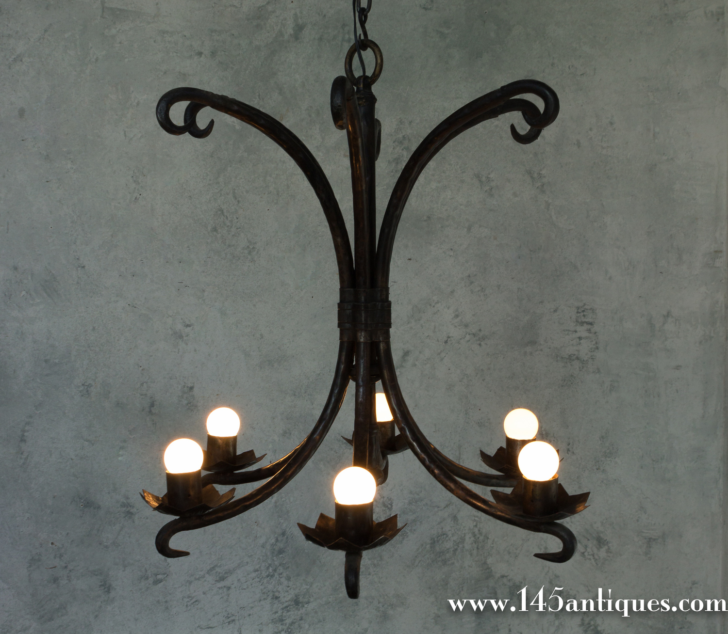 Spanish Wrought Iron Chandelier — 145 Antiques