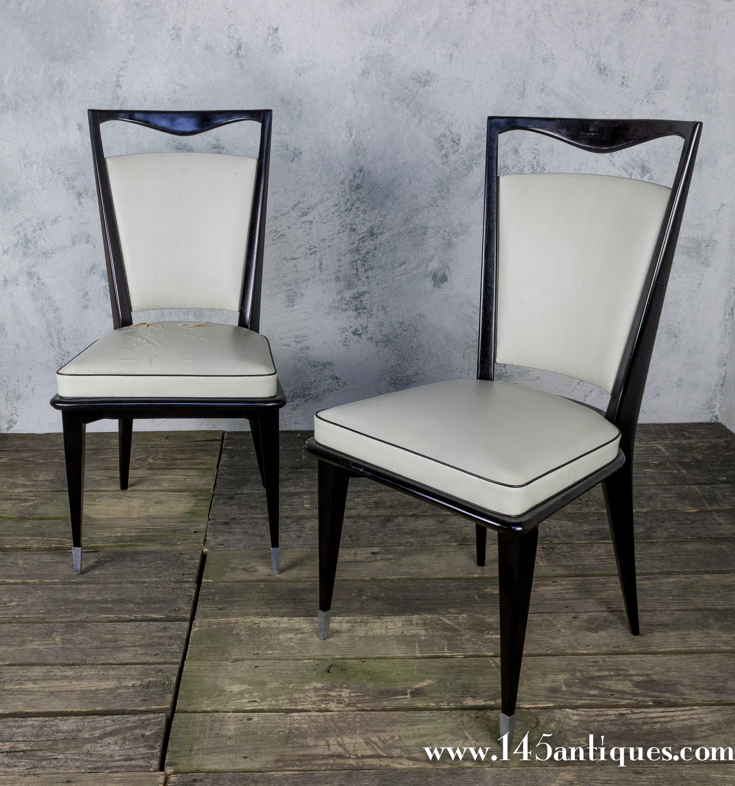 Pair Of French Mid Century Modern Side Chairs 145 Antiques