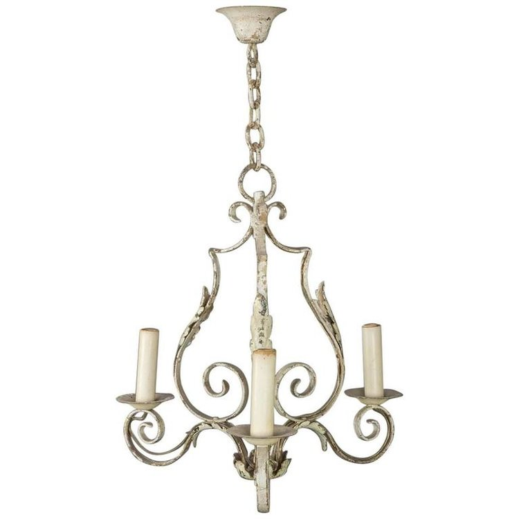 Small french wrought iron chandelier 145 antiques small french wrought iron chandelier aloadofball Choice Image
