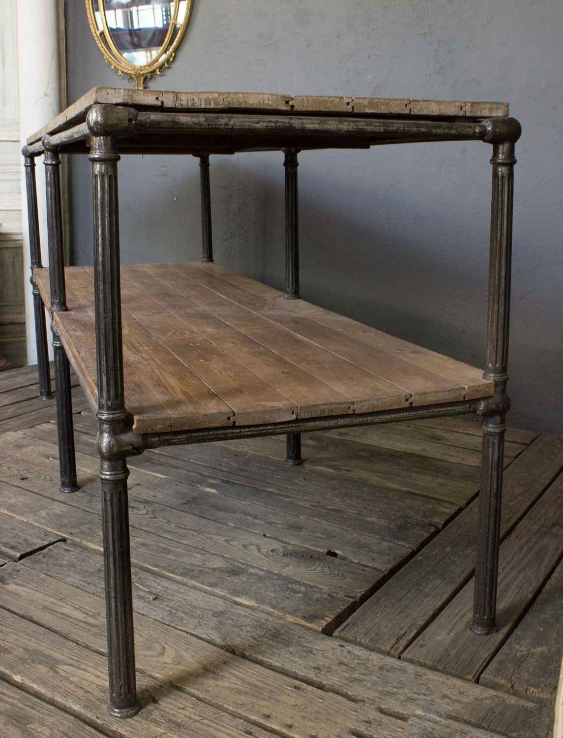 Large industrial console table