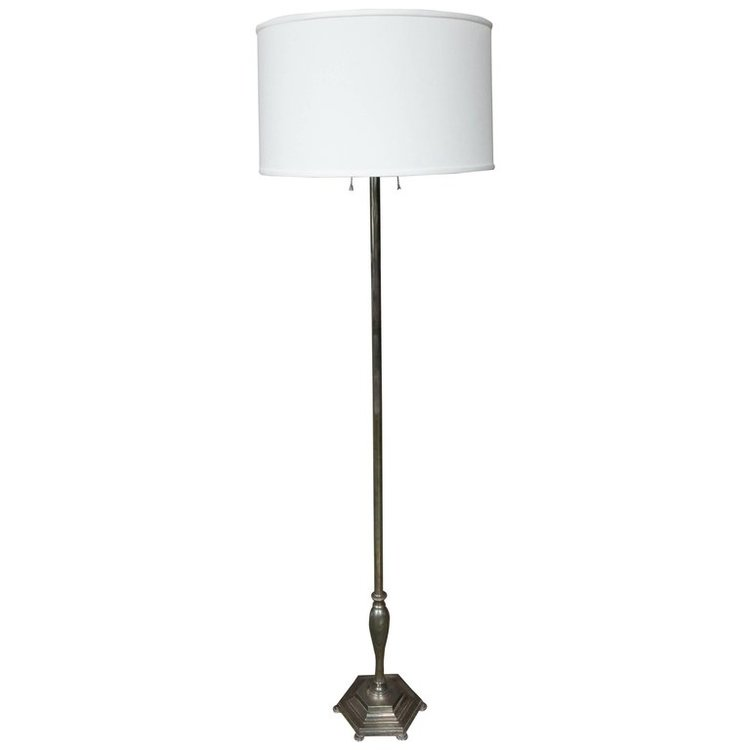 Silver plated french floor lamp 145 antiques silver plated french floor lamp aloadofball Choice Image