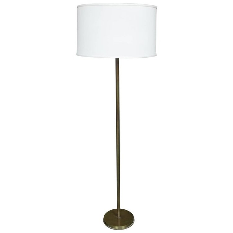 French Mid-Century Modern Brass Floor Lamp — 145 Antiques