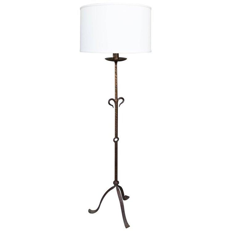 1950s spanish wrought iron floor lamp 145 antiques 1950s spanish wrought iron floor lamp mozeypictures Images