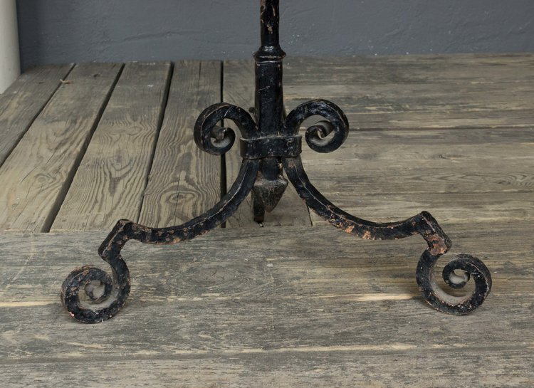 Large Painted Wrought Iron Floor Lamp 145 Antiques