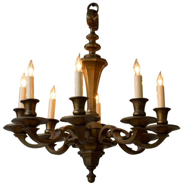 Small french 1940s bronze chandelier 145 antiques small french 1940s bronze chandelier aloadofball Gallery