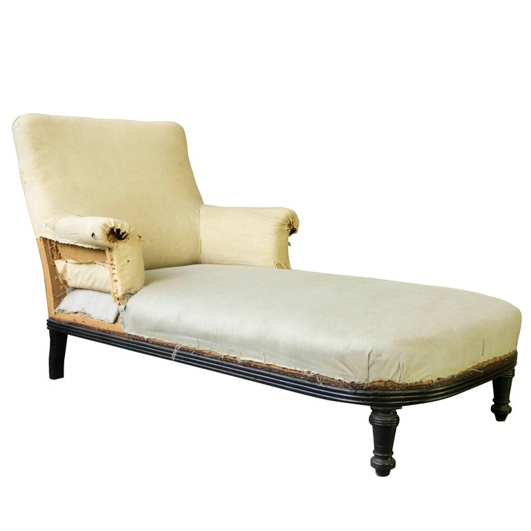 Frame 19th French CChaise With Longue Wooden Exposed jLqUzVSMGp