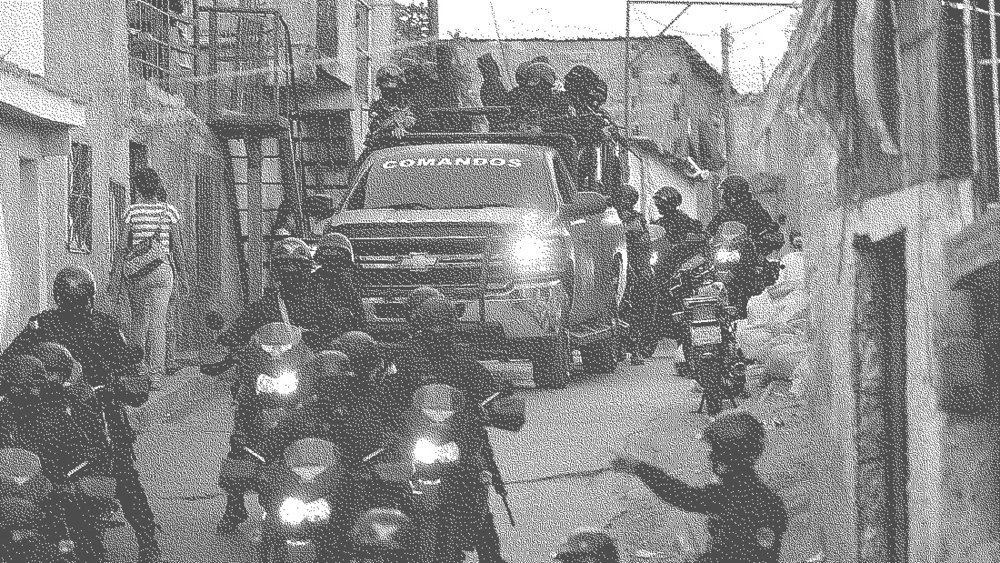 Military forces surrounding a neighborhood in Caracas / Photo: Online Source