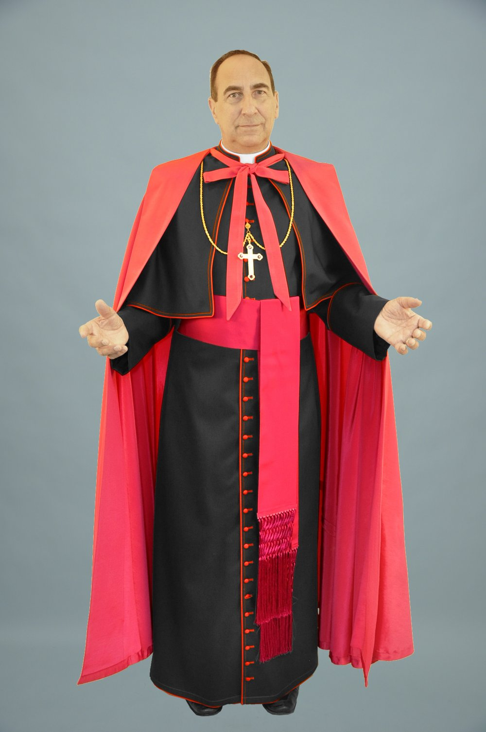Cassock Black W Red Trim & Shoulder Cape & Ferraiollone (f).jpg