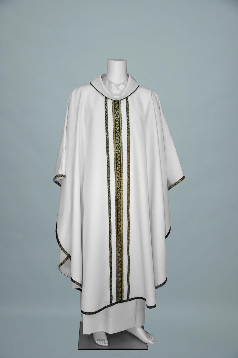 Monastic Chasuble #5146 White W 407 black gold (f) 1.jpg