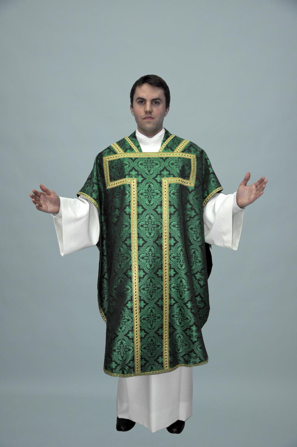 St Philip Neri Davinci Green W 2326 Green gold (f) 2.jpg