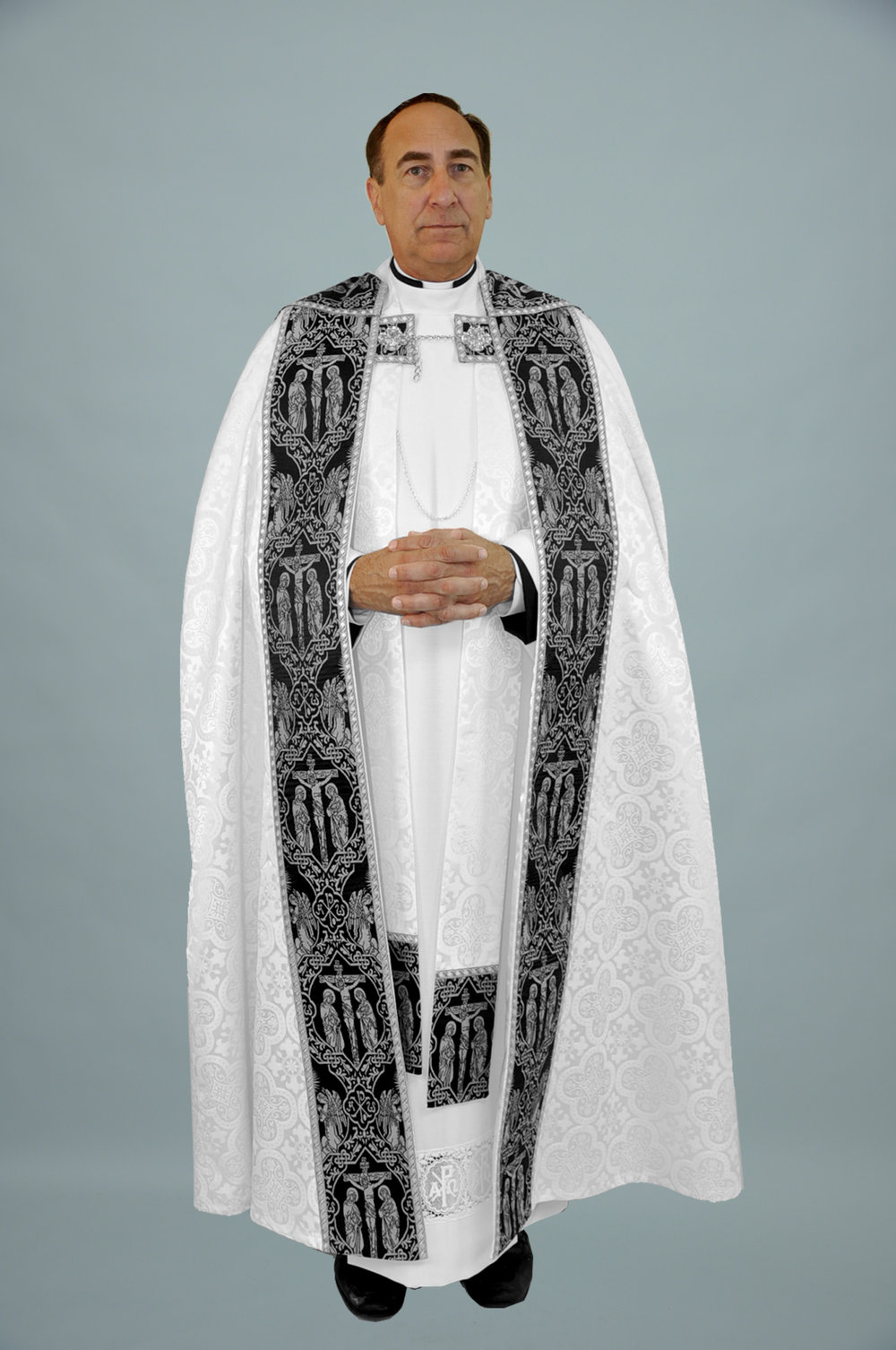 M2 Cope Trinity White w Crucifixion black silver & 2326 silver (f) 1.jpg