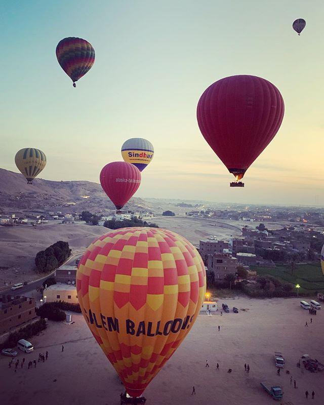 Sunrise #hotairballoon ride