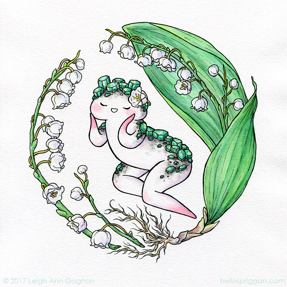 Lily of the Valley & Emerald (May)