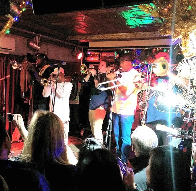 Performing with Rebirth Brass Band