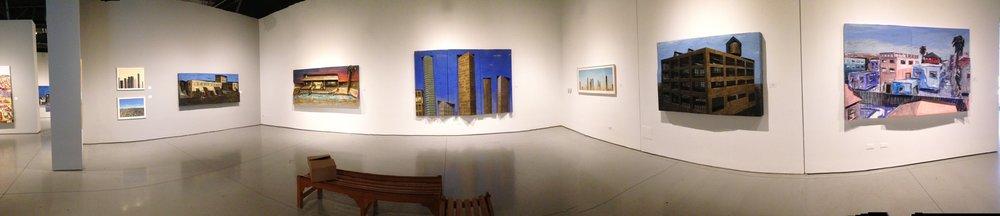 Main room, 3-D paintings
