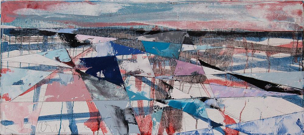 "Landscape Study #63, 2015, 14"" x 30"""