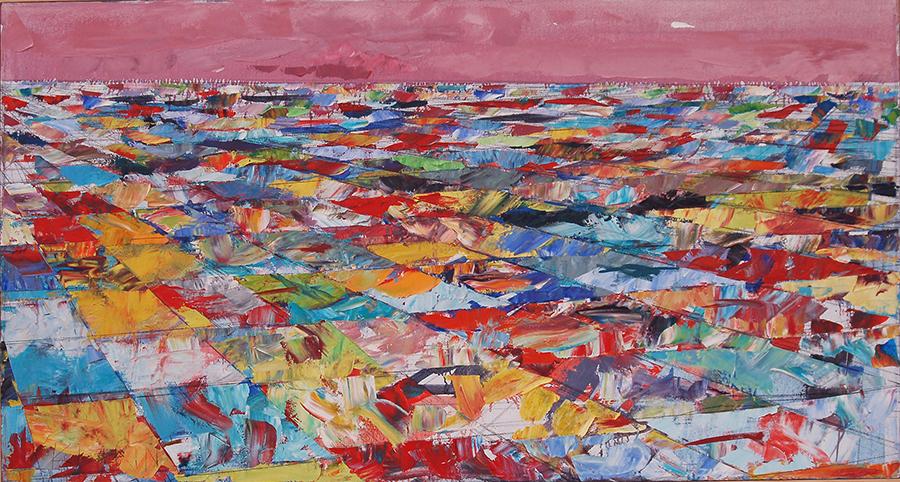 "Landscape Study #11, 2006, 28"" x 52"""