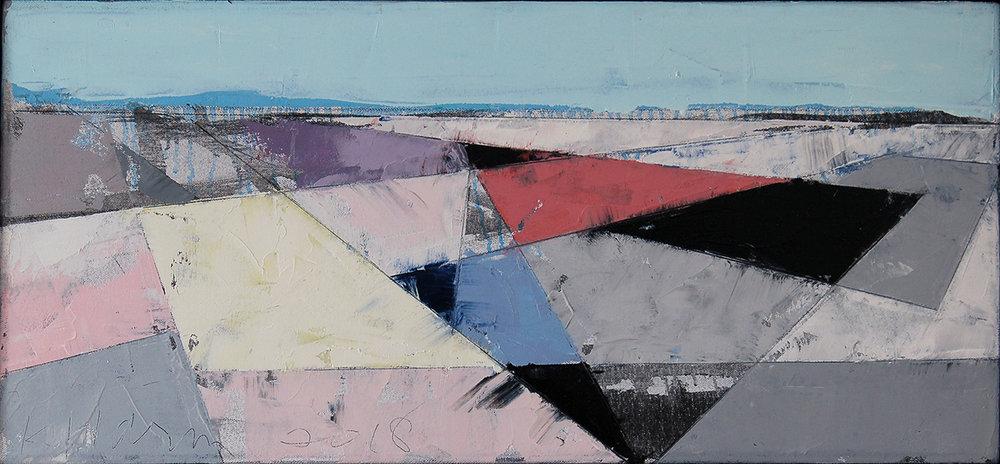 "Landscape Study #89, 2018, 12"" x 26"""