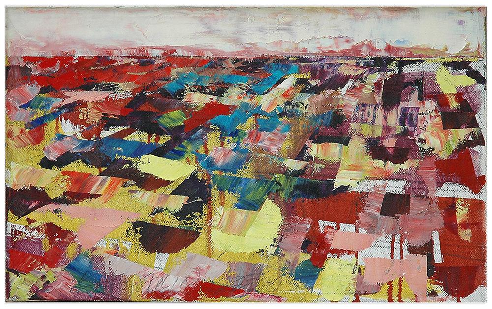 "Landscape Study #2, 2005, 10' x 16"", o/c"
