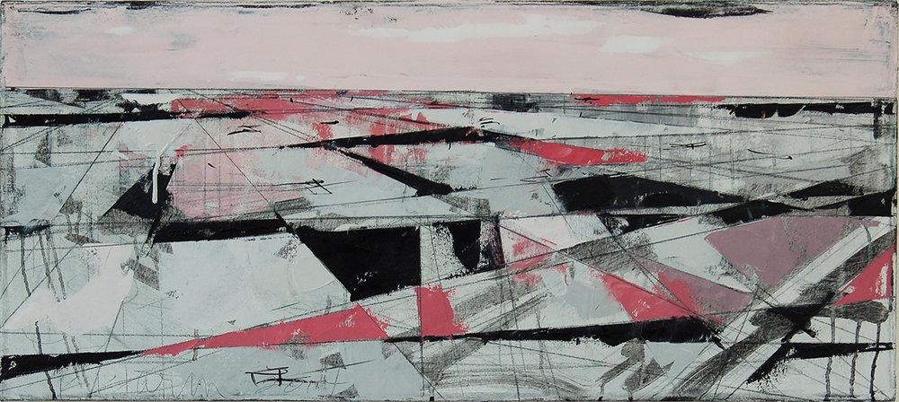 "Landscape Study #52, 2014, 16"" x 36"", o/c"